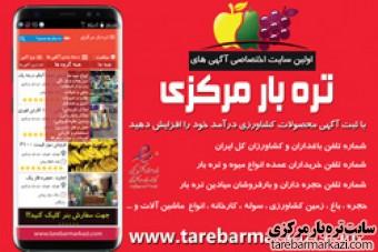 سایت ( تره بار مرکزی ) tarebarmarkazi بزرگترین سایت آگهی خرید و فروش میوه و تره بارکل ایران ....